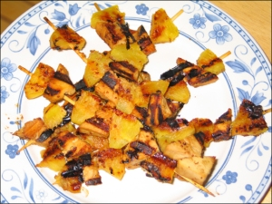 Grilled Tofu & Pineapple